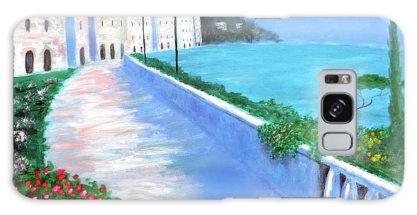 Beauty Of The Riviera Galaxy Case by Larry Cirigliano