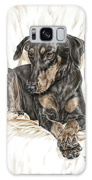 Beauty Pose - Doberman Pinscher Dog With Natural Ears Galaxy Case