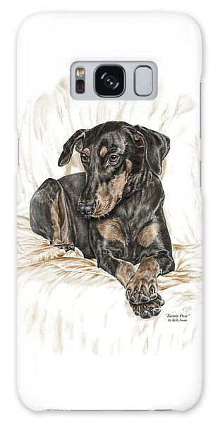 Beauty Pose - Doberman Pinscher Dog With Natural Ears Galaxy Case by Kelli Swan