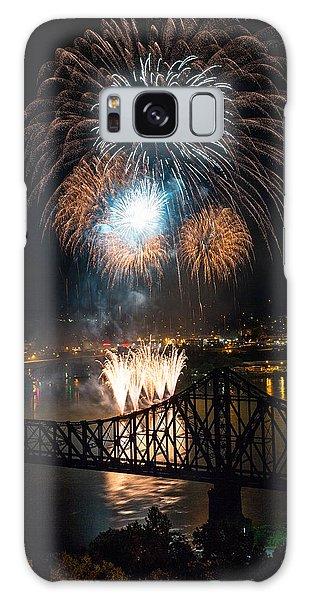 Beaver Galaxy S8 Case - Beaver County Fireworks 2 by Emmanuel Panagiotakis