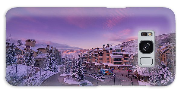 Beaver Creek Village Sunset Galaxy Case