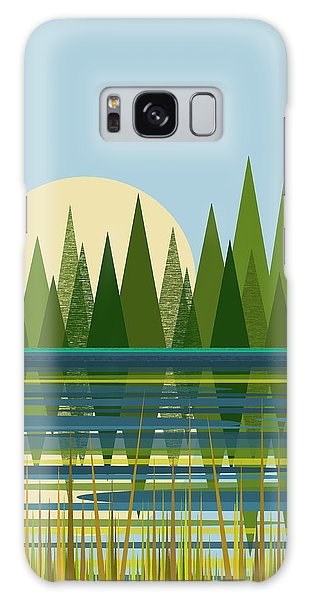 Beaver Pond - Vertical Galaxy Case by Val Arie