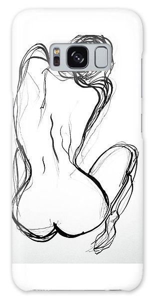 Galaxy Case featuring the drawing Because The Night by Jarko Aka Lui Grande