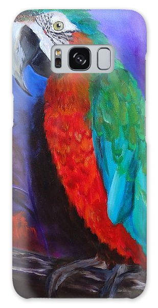 Becky The Macaw Galaxy Case by Jenny Lee