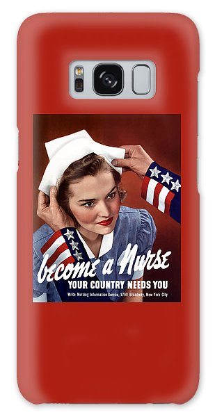 Political Galaxy Case - Become A Nurse -- Ww2 Poster by War Is Hell Store