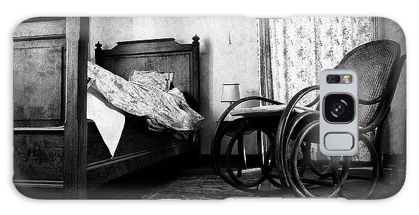 Bed Room Rocking Chair - Abandoned Building Bw Galaxy Case