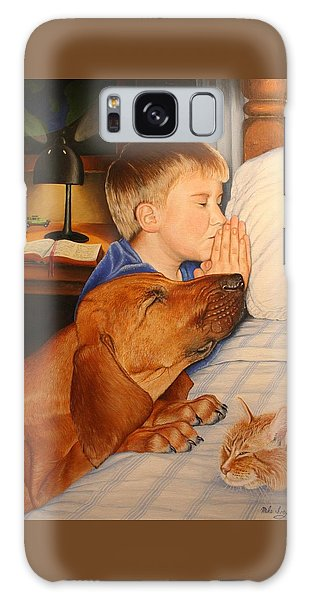 Bed Time Prayers Galaxy Case