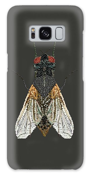 Bedazzled Housefly Transparent Background Galaxy Case by R  Allen Swezey