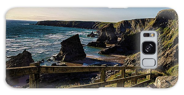Sea Stacks Galaxy Case - Bedruthan Rocks by Martin Newman