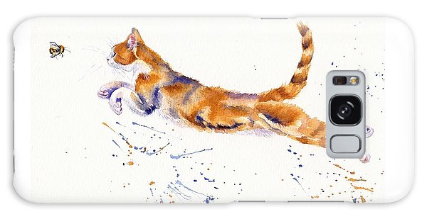 Cat Galaxy Case - Bee Airborne by Debra Hall