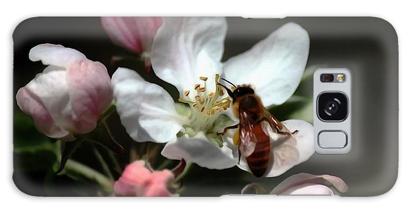 Bee And Blossom Galaxy Case by Erica Hanel