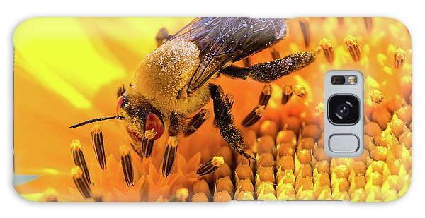 Bee And Sunflower Galaxy Case