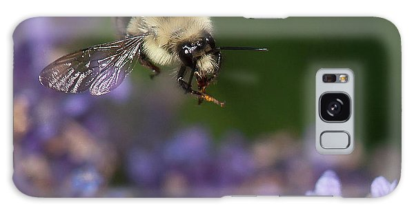 Bee Approaches Lavender Galaxy Case by Len Romanick