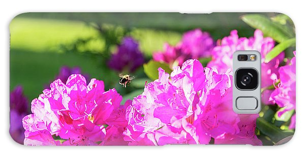 Bee Flying Over Catawba Rhododendron Galaxy Case