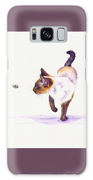 Cat Galaxy S8 Case - Bee Free by Debra Hall