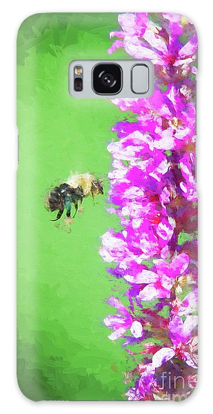 Bee Kissing A Flower Galaxy Case
