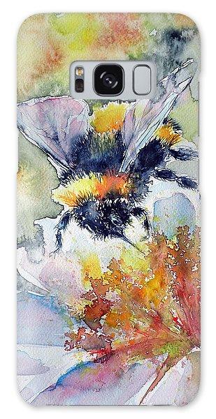 Bee On Flower Galaxy Case by Kovacs Anna Brigitta