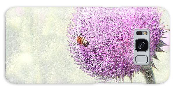 Bee On Giant Thistle Galaxy Case