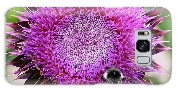 Bee On Thistle Galaxy Case