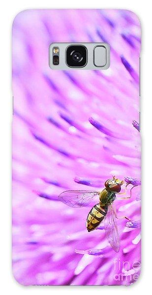 Sweat Bee On Thistle Galaxy Case