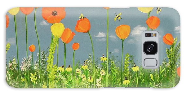 Bee-utiful Day Galaxy Case by Carol Sweetwood