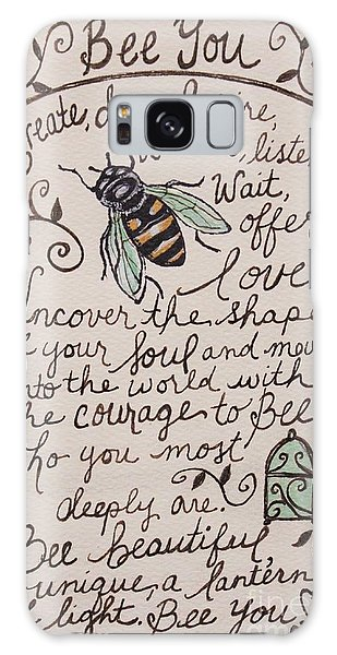 Bee You Galaxy Case by Elizabeth Robinette Tyndall