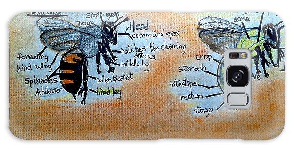 Bees  Galaxy Case by Francine Heykoop
