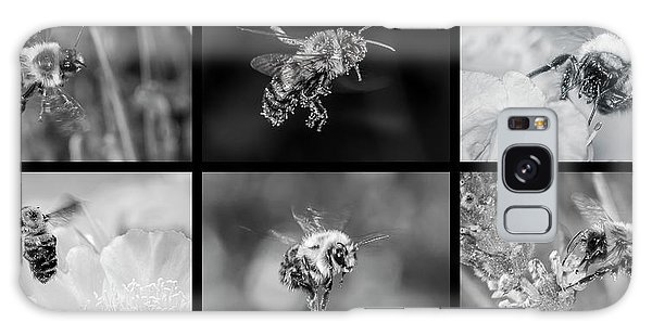 Bees In Flight In Black And White Galaxy Case