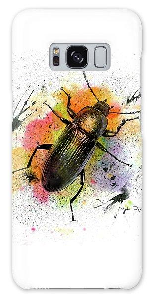 Beetle Illustration Galaxy Case