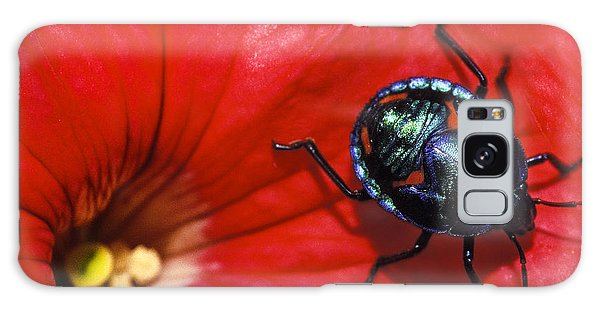 Hibiscus Galaxy Case - Beetle On A Hibiscus Flower. by Sean Davey