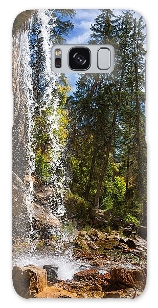 Behind Spouting Rock Waterfall - Hanging Lake - Glenwood Canyon Colorado Galaxy Case