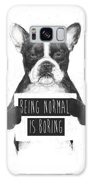 White Galaxy Case - Being Normal Is Boring by Balazs Solti