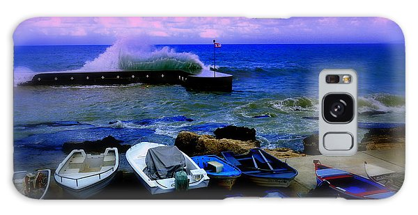Beirut Seaside Waves Galaxy Case by Funkpix Photo Hunter