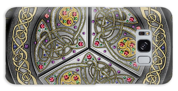 Bejeweled Celtic Shield Galaxy Case by Kristen Fox