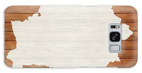 Traveler Galaxy Case - Belarus Rustic Map On Wood by Dan Sproul