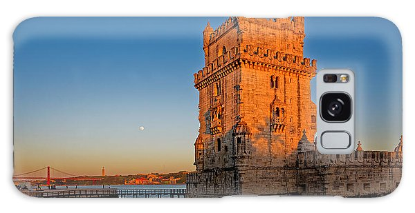 Belem Tower And The Moon Galaxy Case