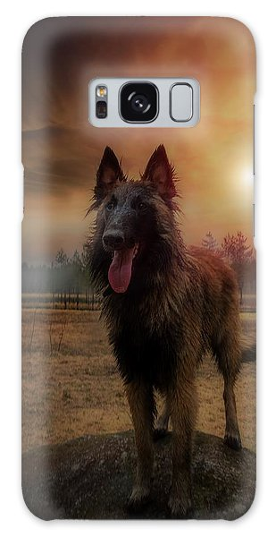 Belgian Shepherd Galaxy Case by Rose-Marie Karlsen