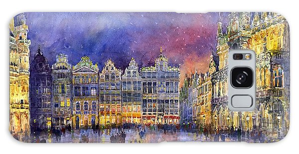 Watercolour Galaxy Case - Belgium Brussel Grand Place Grote Markt by Yuriy Shevchuk