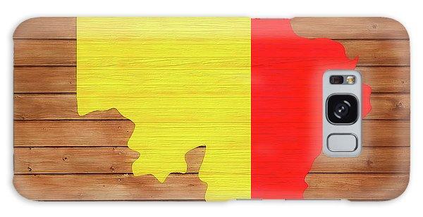 Traveler Galaxy Case - Belgium Rustic Map On Wood by Dan Sproul