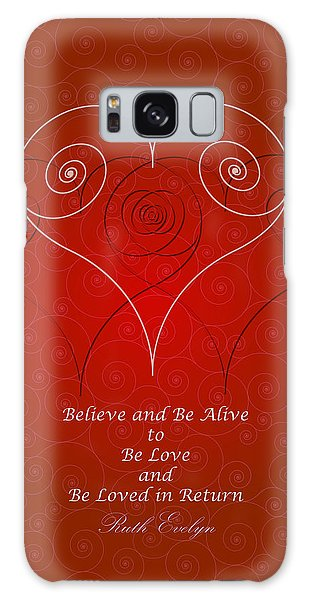 Believe And Be Alive Galaxy Case