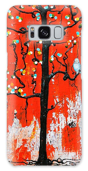 Galaxy Case featuring the painting Believe by Natalie Briney