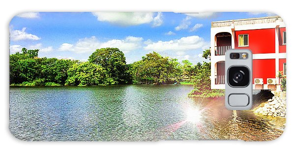 Belize River House Reflection Galaxy Case