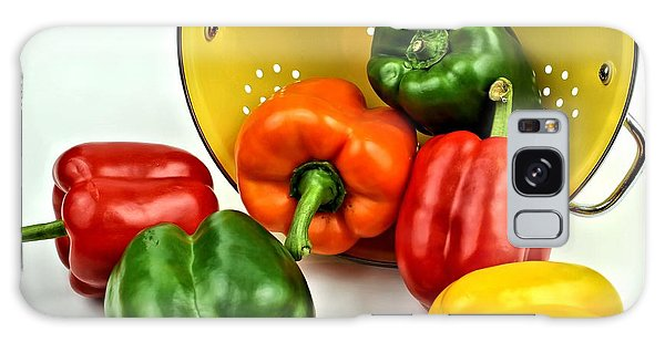 Bell Peppers Galaxy Case by Jimmy Ostgard