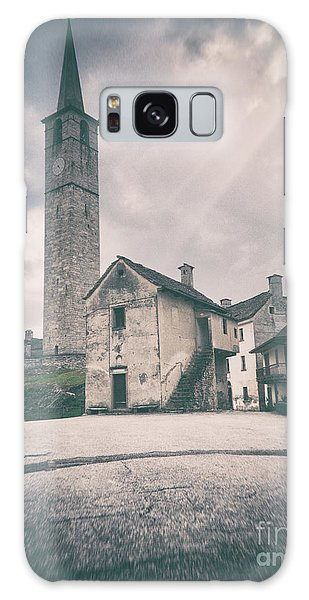Galaxy Case featuring the photograph Bell Tower In Italian Village by Silvia Ganora