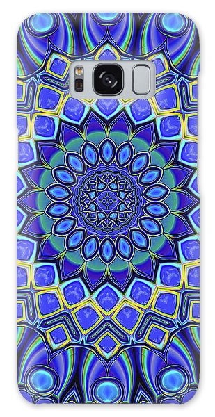 Galaxy Case featuring the digital art Bella - Blue by Wendy J St Christopher