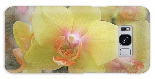 Orchidaceae Galaxy Case - Bella Yella by Donna Kennedy