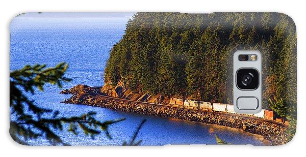 Bellingham Bay And Train Galaxy Case