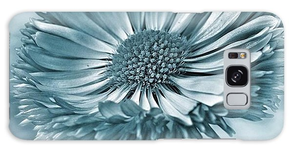 Bellis In Cyan  #flower #flowers Galaxy Case by John Edwards