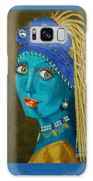 Belly Dancer With A Pearl Earring -- The Original -- Whimsical Redo Of Vermeer Painting Galaxy Case