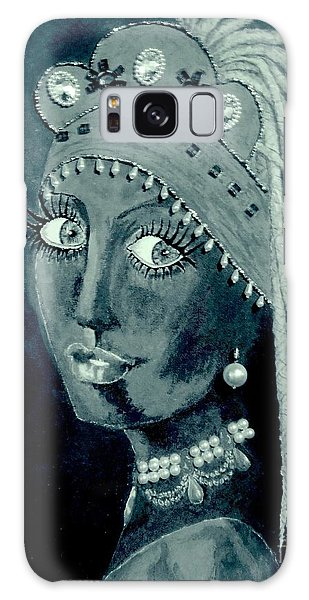 Girl With A Pearl Earring Galaxy Case - Belly Dancer With A Pearl Earring -- Nocturnal Version by Jayne Somogy